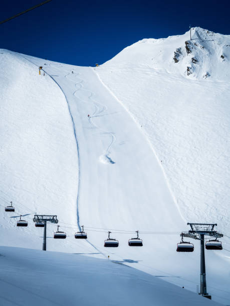 Ski lifts and a ski slope, Ischgl, Landeck, Tyrol, Austria:スマホ壁紙(壁紙.com)