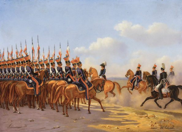 Painting - Activity「Nicholas I And His Entourage Reviewing The Life Guards Lancer (Ulansky) His Majesty's Regiment 1846」:写真・画像(3)[壁紙.com]