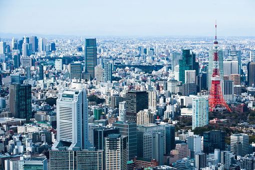 Tokyo Tower「Town with Tokyo Tower」:スマホ壁紙(6)