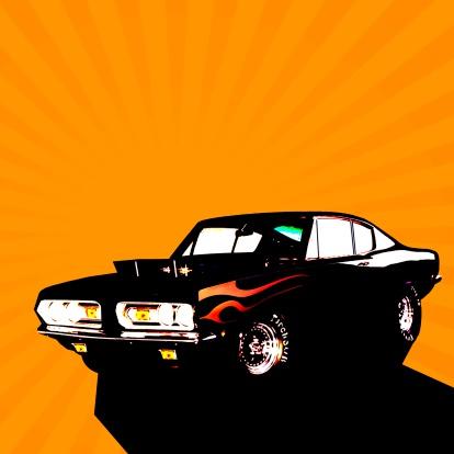 Hot Rod Car「Muscle car」:スマホ壁紙(7)