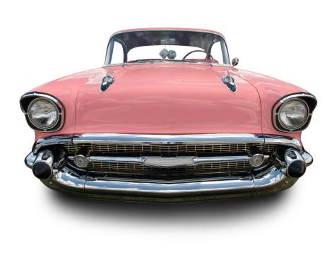 Hot Rod Car「Pink Chevrolet Bel Air 1957」:スマホ壁紙(10)