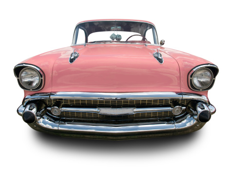 Sports Car「Pink Chevrolet Bel Air 1957」:スマホ壁紙(8)