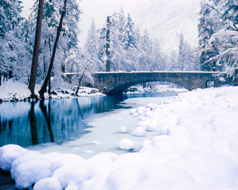 Frozen Water「Winter In Yosemite National Park」:スマホ壁紙(9)