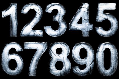 数字の8「1, 2, 3, 4, 5, 6, 7,8, 9, 0 formed form ice」:スマホ壁紙(12)