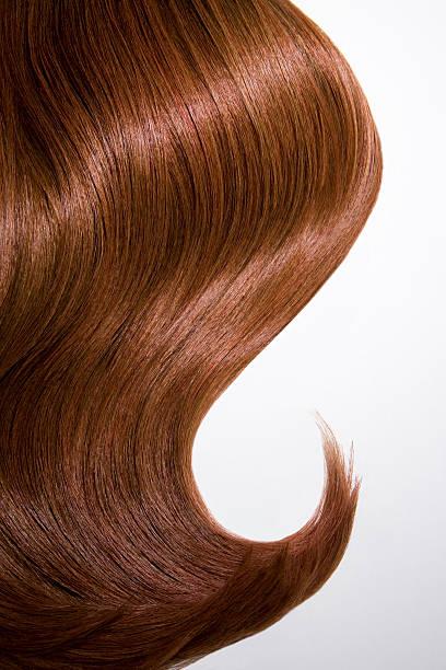 Shiny wavy red hair on white background, cropped.:スマホ壁紙(壁紙.com)