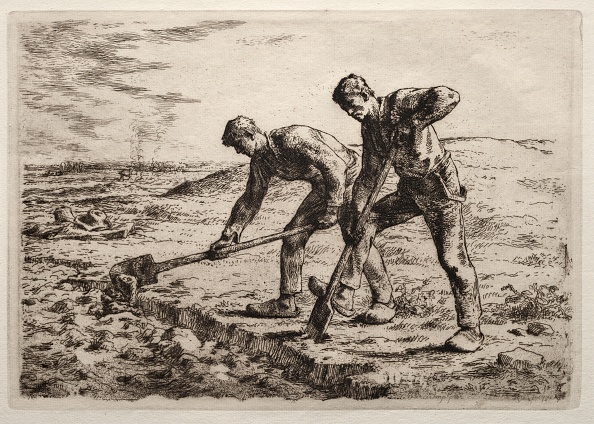 Construction Equipment「The Diggers. Creator: Jean-François Millet (French」:写真・画像(8)[壁紙.com]