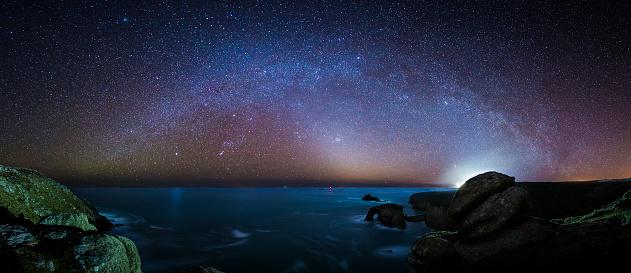 Milky Way「Land's End at Night」:スマホ壁紙(15)