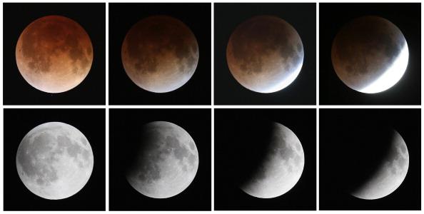 月「Rare Lunar Eclipse Cast Red Cast Over Moon」:写真・画像(7)[壁紙.com]