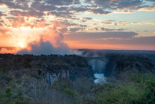 Victoria's Secret「Sunrise at Victoria Falls on the Zambezi river」:スマホ壁紙(2)