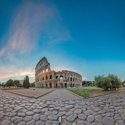 Ancient Civilization「Sunrise at Colosseum, Rome, Italy - XXL Panorama」:スマホ壁紙(16)