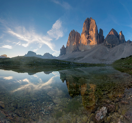 Alto Adige - Italy「Sunrise at Tre Cime in Dolomite Alps, Italy」:スマホ壁紙(10)