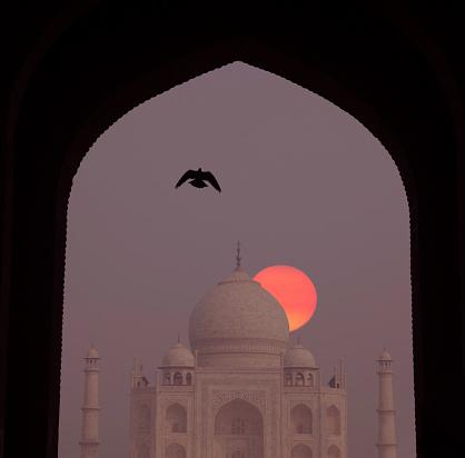 Minaret「Sunrise at Taj Mahal.」:スマホ壁紙(13)