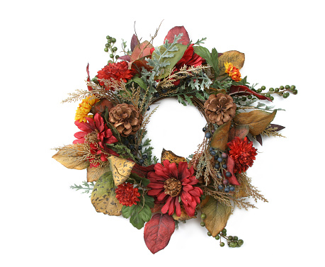 Pine Cone「Wreath Series (on a white background)」:スマホ壁紙(6)