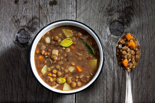 Bowl of lentil soup:スマホ壁紙(壁紙.com)