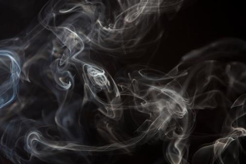 Smoke - Physical Structure「smoke  curls against black background」:スマホ壁紙(13)