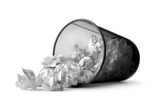 Crumpled Paper「Office: Wastepaper Basket Tumbled」:スマホ壁紙(18)