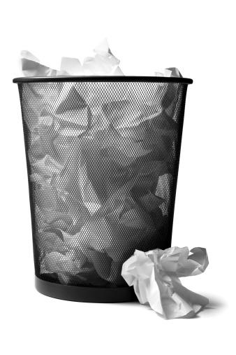 Crumpled Paper「Office: Wastepaper Basket Full」:スマホ壁紙(11)