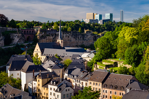 Abbey - Monastery「Luxembourg City at sunset」:スマホ壁紙(7)