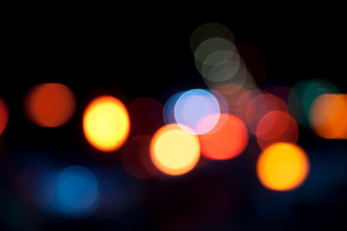 Funky「defocused light dots against black background」:スマホ壁紙(12)