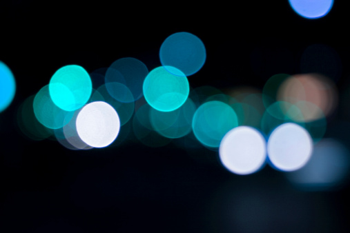 Funky「defocused light dots against black background」:スマホ壁紙(10)