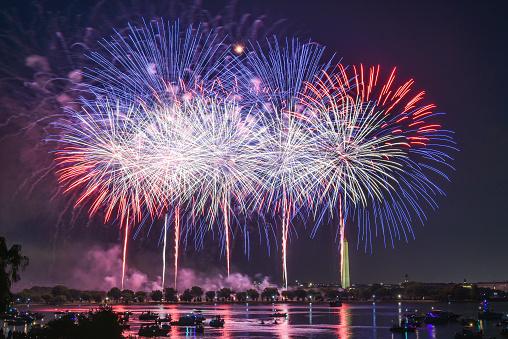 Firework Display「Fireworks - Celebrating Independence Day 4th of July」:スマホ壁紙(6)