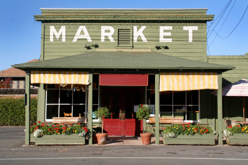 Rustic「Rural Store Market Building in Country Small Town America」:スマホ壁紙(9)