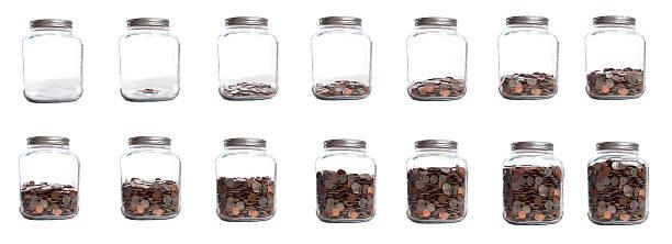 Saving Your Coins Series of Jar Filling:スマホ壁紙(壁紙.com)