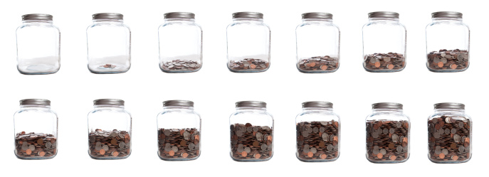 Sequential Series「Saving Your Coins Series of Jar Filling」:スマホ壁紙(5)