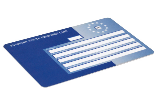 Insurance「European Health Insurance Card Isolated on White」:スマホ壁紙(9)