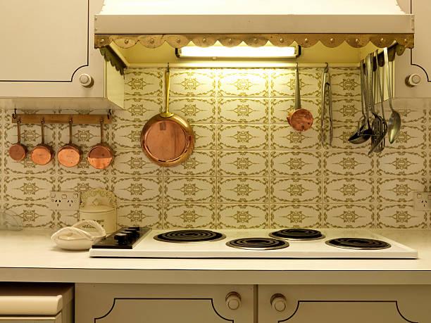 Retro house interior kitchen:スマホ壁紙(壁紙.com)