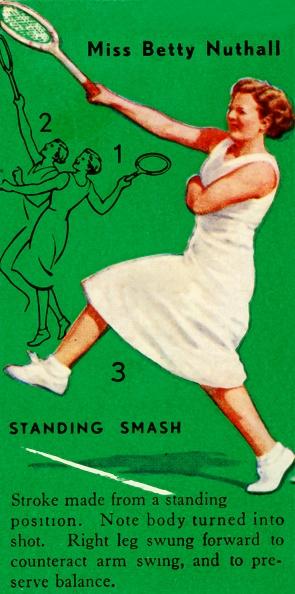 スポーツ用品「Miss Betty Nuthall - Standing Smash」:写真・画像(14)[壁紙.com]