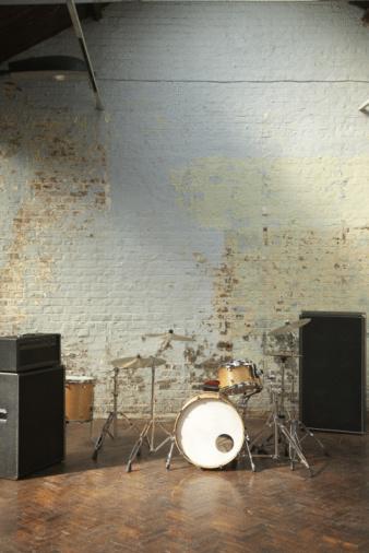 Rehearsal「Drum kit set up in studio.」:スマホ壁紙(4)
