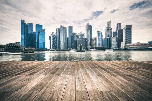 Singapore skyline:スマホ壁紙(壁紙.com)