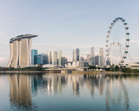 Waterfront「Singapore skyline, at dawn」:スマホ壁紙(15)
