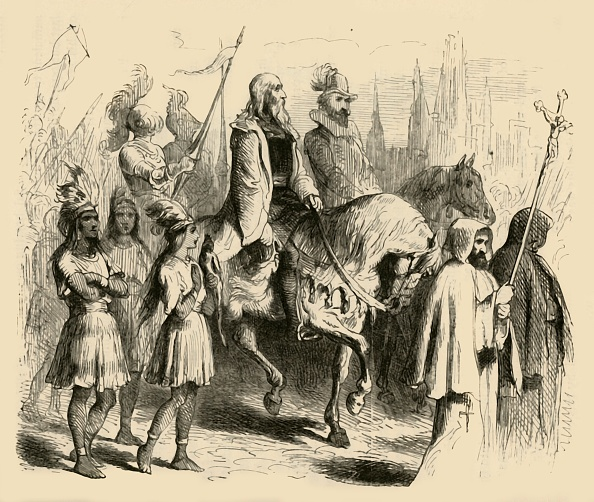 Christopher Columbus - Explorer「Columbus And His Train Entering Barcelona」:写真・画像(0)[壁紙.com]
