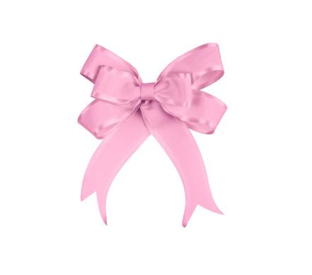 Clip Art「Pink Satin Gift Bow」:スマホ壁紙(1)