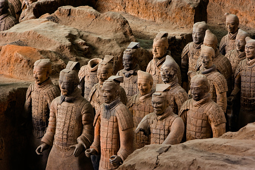 Archaeology「Terracotta Warrior Statues in Qin Shi Huangdi Tomb」:スマホ壁紙(14)