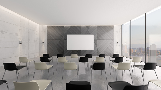 Projection Screen「Modern conference room」:スマホ壁紙(12)