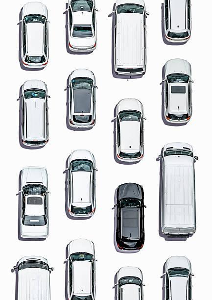 Cars on white subsurface, Aerial View:スマホ壁紙(壁紙.com)