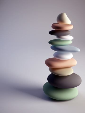 Lastone Therapy「Colorful pebbles stack with sharp one on top」:スマホ壁紙(10)