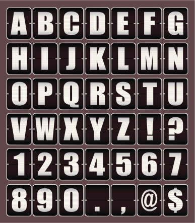 Vector「Alphabet clicker board with type and letters with numbers」:スマホ壁紙(8)