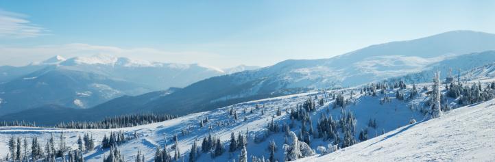 スキー「ユキコ Carpathian 山々の眺め」:スマホ壁紙(2)