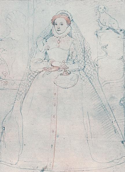 クレヨン「Elizabeth I, Queen of England and Ireland, 1575. Artist: Federico Zuccaro」:写真・画像(4)[壁紙.com]