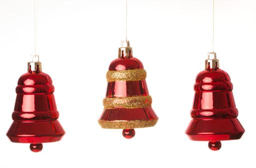Bell「Christmas bells, isolated on white」:スマホ壁紙(19)