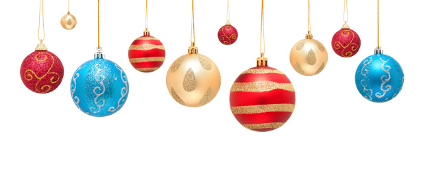 Hanging「Christmas ball isolated on white background」:スマホ壁紙(12)
