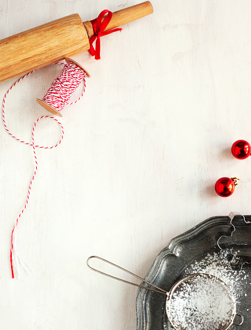 Rolling Pin「Christmas baking background」:スマホ壁紙(18)