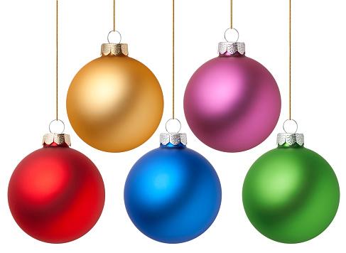 Metallic「Christmas balls」:スマホ壁紙(2)