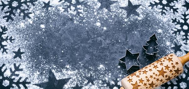 Cookie Cutter「Christmas Bakery - Holiday Blackboard Metal Baking Vintage Background」:スマホ壁紙(19)
