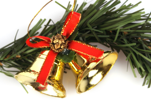 Chinese Lantern「Christmas bells and wreath, close-up」:スマホ壁紙(14)