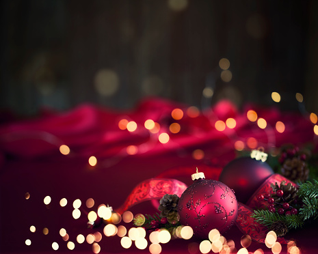 Christmas「Christmas Baubles Background」:スマホ壁紙(10)